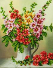 Картины бисером | Мальвы. Размер - 35 х 44,5 см.