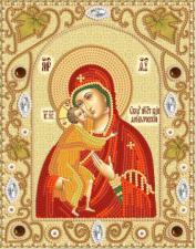 Феодоровская икона Божией Матери. Размер - 14 х 18 см.