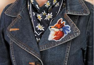 """Набор для вышивки бисером украшения на натуральном художественном холсте """"Лисичка"""""""