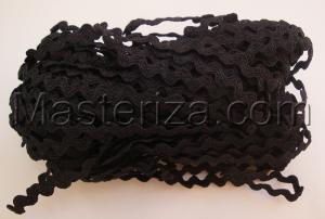 Декоративная тесьма Вьюнчик. Цвет 03 (чёрный)