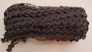 Декоративная тесьма Вьюнчик. Цвет 142 (тёмно-серый)