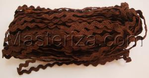 Декоративная тесьма Вьюнчик. Цвет 22 (коричневый)