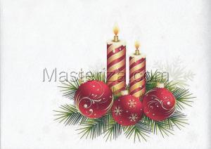"""Фетр с рисунком """"Новый год"""",А4"""