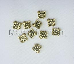 Бусины металлические (золото),КМ104,10 шт