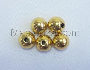 Бусины металлические (золото),КМ107,5 шт