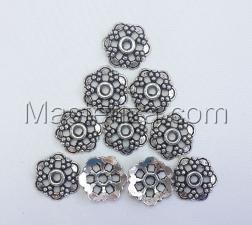 Шапочки для бусин 024,серебро,10 шт.
