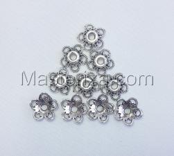 Шапочки для бусин 028/1,серебро,10 шт.