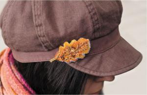 """Набор для вышивки бисером украшения на натуральном художественном холсте """"Дубовый листочек"""""""