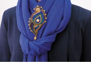 """Набор для вышивки бисером украшения на натуральном художественном холсте """"Эгретка"""""""
