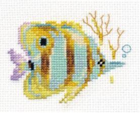 Алиса   Тропические рыбки.Полосатая. Размер - 9 х 7 см