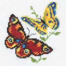 Алиса   Бабочки-красавицы. Размер - 10 х 11 см