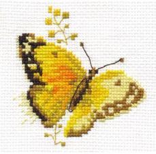 Яркие бабочки.Жёлтая. Размер - 9 х 8 см.
