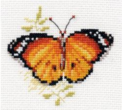 Алиса | Яркие бабочки.Оранжевая. Размер - 9 х 8 см