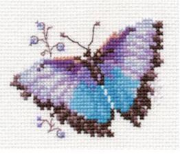 Алиса | Яркие бабочки.Голубая. Размер - 8 х 6 см