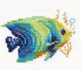 Алиса | Тропические рыбки.Изумрудная. Размер - 8 х 7 см