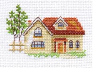 Алиса   Солнечный домик. Размер - 9 х 6 см
