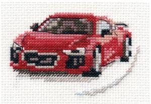 Алиса | Красный спорткар. Размер - 9 х 6 см