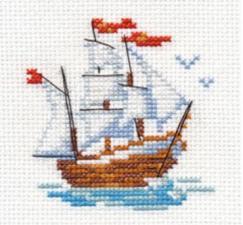 Алиса | Кораблик. Размер - 7 х 8 см