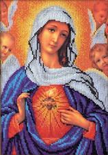 Радуга бисера (Кроше) | Дева Мария. Размер - 19 х 27 см.