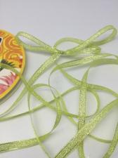 Лента атласная с люрексом,Skroll,6 мм,цвет №015