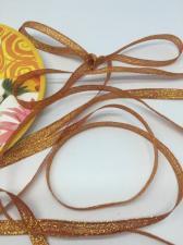 Лента атласная с люрексом,Skroll,6 мм,цвет №026