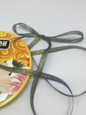 Лента атласная с люрексом,Skroll,6 мм,цвет №040
