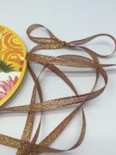 Лента атласная с люрексом,Skroll,6 мм,цвет №048