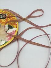 Лента атласная с люрексом,Skroll,6 мм,цвет №059