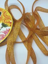 Лента атласная с люрексом,Skroll,12 мм,цвет №024