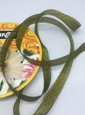 Лента атласная с люрексом,Skroll,12 мм,цвет №039