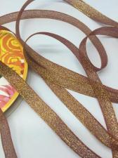 Лента атласная с люрексом,Skroll,12 мм,цвет №048