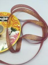Лента атласная с люрексом,Skroll,12 мм,цвет №059