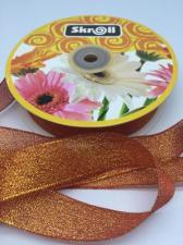 Лента атласная с люрексом,Skroll,25 мм,цвет №026