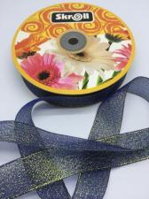 Лента атласная с люрексом,Skroll,25 мм,цвет №040