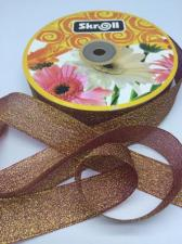 Лента атласная с люрексом,Skroll,25 мм,цвет №048