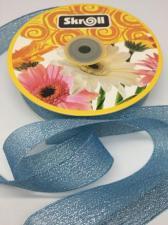 Лента атласная с люрексом,Skroll,25 мм,цвет №070