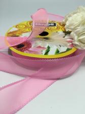 Лента декоративная, Skroll, 25 мм, модель 1006, цвет розовый