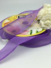 Лента декоративная, Skroll, 25 мм, модель 1006, цвет фиолетовый