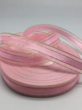 Лента атлас/органза декоративная,17 мм,цвет 1004 (светло-розовый)