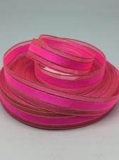 Лента атлас/органза декоративная,17 мм,цвет 1027 (розовый)