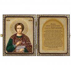 """Складень """"Св. Великомученик и Целитель Пантелеймон"""""""