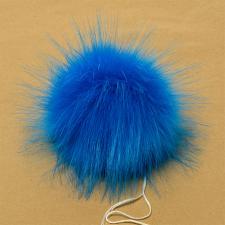 Помпон искусственный мех, песец 17-18 см, цв.ярко-синий №25 А