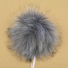 Помпон искусственный мех, песец 17-18 см, цв.серый №32 А