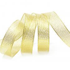 Лента атласная с люрексом,IDEAL,20 мм,цв.золото