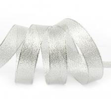 Лента атласная с люрексом,IDEAL,20 мм,цв.серебро