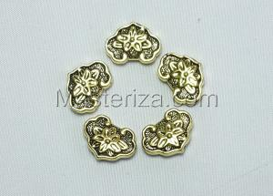 Бусины металлические (золото),КМ102,5 шт