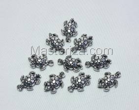 Бусины металлические (серебро),КМ124,10 шт
