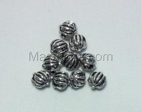 Бусины металлические (серебро),КМ143,10 шт