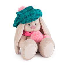 Зайка Ми в зелёной кепке и розовом шарфе, мягкая игрушка Budi Basa