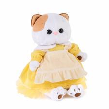 Кошечка Ли-Ли в жёлтом платье с передником, мягкая игрушка Budi Basa